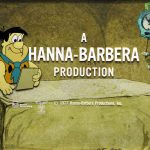 Studio: Hanna-Barbera Productions; Directors: Charles August 'Nick' Nichols, Joseph Roland 'Joe' Barbera and William Denby 'Bill' Hanna; Producers: Joseph Roland 'Joe' Barbera and William Denby 'Bill' Hanna; Animation Director: Charles August 'Nick' Nichols; Background Supervisor: Fernando Montealegre, Fred Flintstone and Friends, Fred and Hanna-Barbera End Titles Original Animation Cels and Background, 1977, vinyl paint on celluloid, acrylic on artist board background, 15 in. x 17 in.