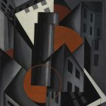 Louis Lozowick (American, 1892-1973), Red Circle, 1924, oil on canvas board, 18 in. x 15 in., Collection of the Vilcek Foundation, New York City, New York