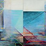 Richard Stout, A Day at Rollover Bay, 2015, Acrylic on canvas, 30 in x 60 in., From the Art Museum of South Texas Permanent Collection, Gift of the 2017 Collectors Club, 2017.7