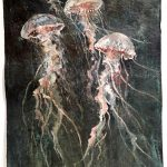 John Alexander (American, b. 1945), Jellyfish, 2014, oil on paper, 30 in. x 22 in., Gift of the 2017-2018 Collectors Club, Art Museum of South Texas Permanent Collection, 2017.6