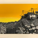 Vincent Valdez (American, 1977), El Chavez Ravine, 2007, serigraph, 12 1/8 in. 18 in., Gift of Mack Ray, Art Museum of South Texas Permanent Collection, 2018.2.1