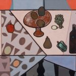 Robert Gwathmey (American, 1903-1988), Still Life, 1973, oil on canvas, 31 ¼ in. x 46 ½ in., Guild Hall Collection