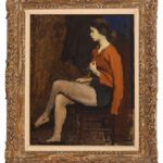 Raphael Soyer (Russian American, 1899-1987), The Dancer, Late 1940s, oil on canvas, 19 ½ in. x 15 ¾ in., Guild Hall Collection