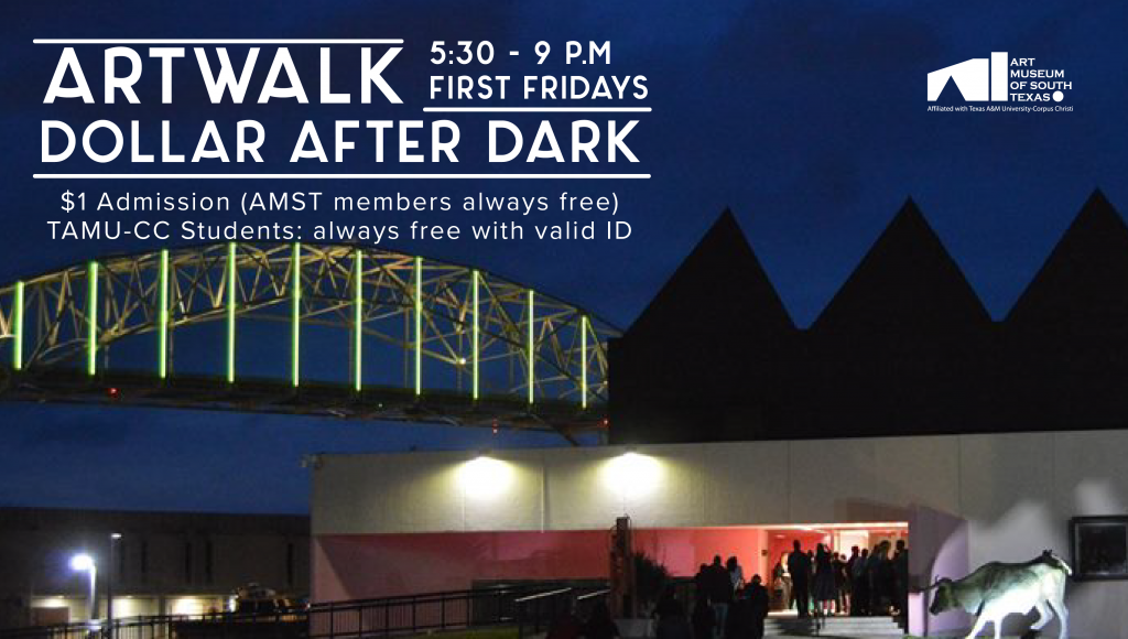 The Art Museum is open 5:30 - 9 p.m. for Dollar After Dark as part of the Marina Art District's ARTWALK. Enjoy reduced admission of $1 per person, stroll the galleries, and experience an architectural landmark!
