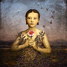 Maggie Taylor (American, b.1961), Girl with a bee dress, 2004, digital pigment print, 36 in. x 36 in.