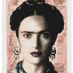 Richard Duardo, Salma as Frida, 2003, serigraph, 44 in. x 30 in., Gift of Joe A. Diaz, San Antonio, TX, 2009.1