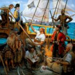 Don R. Maitz, Taking the WHYDAH, Signature Member, ASMA, 28 in. x 28 in., oil on panel