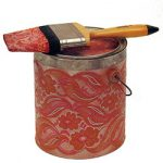 Phyliss Yes (American, 1918-2000) Paint Can with Brush, 1981 Mixed media with paint, 9 in. x 11 in. x 8 in. From the Herchinger Collection