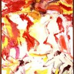 Willem de Kooning (Dutch, 1926-1997), Still Life, c.1972, oil on paper mounted on canvas, 41 ½ in. x 30 in., Guild Hall Collection